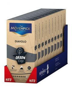 MÖVENPICK ESPRESSO DIAVOLO 10 x 10 Kaffeekapseln GREEN CAP